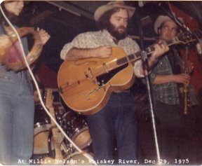 B. W. Stevenson in concert, at Willie Nelson's Whiskey River, December 29, 1975