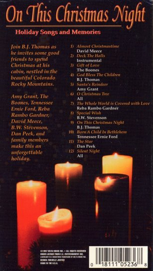 On This Christmas Night, front cover