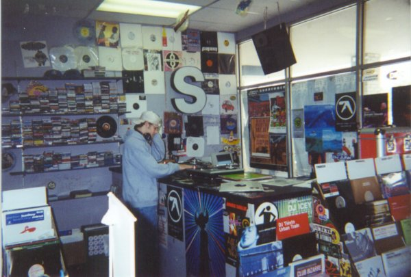 Corner of the store devoted to aspiring deejays