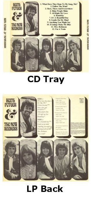 New Seekers CD and LP album back images